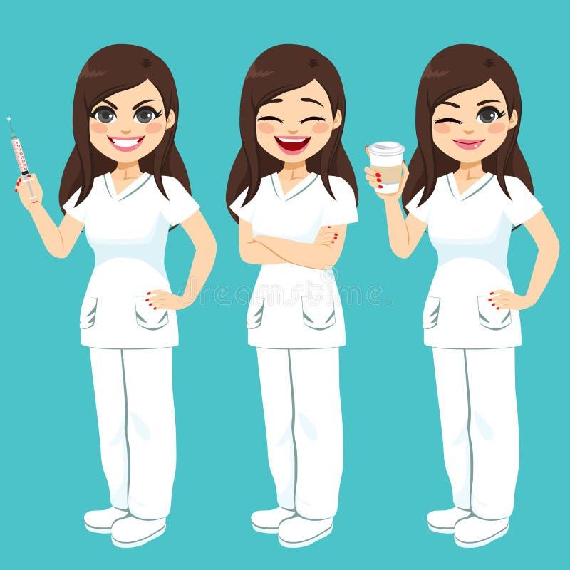 Enfermera Set del hospital libre illustration