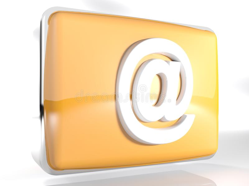 Enfermez dans une boîte l'icône à pour l'email - le rendu 3D illustration de vecteur