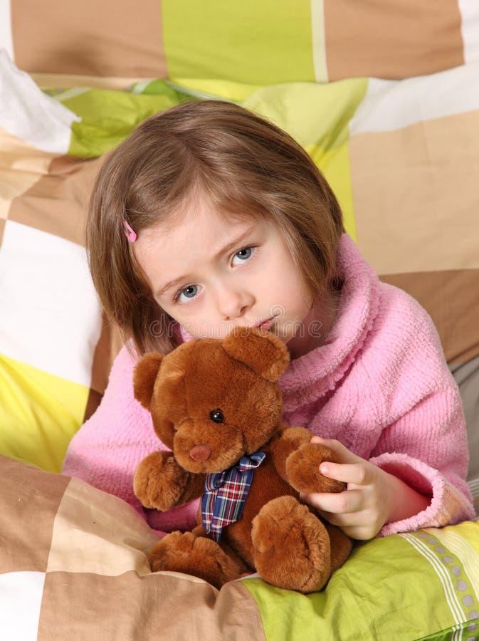 Enfermo de la niña fotos de archivo libres de regalías