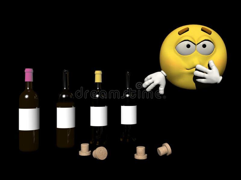 Enfermo del Emoticon - 3d rinden stock de ilustración