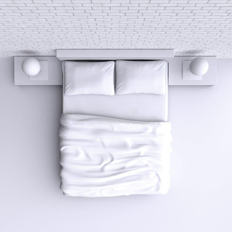 Enfoncez avec des oreillers et une couverture dans la salle faisante le coin, l'illustration 3d illustration libre de droits