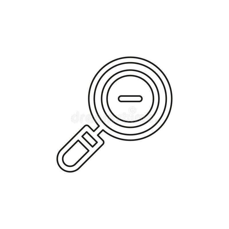 Enfoque de la lupa fuera del icono del vector ilustración del vector