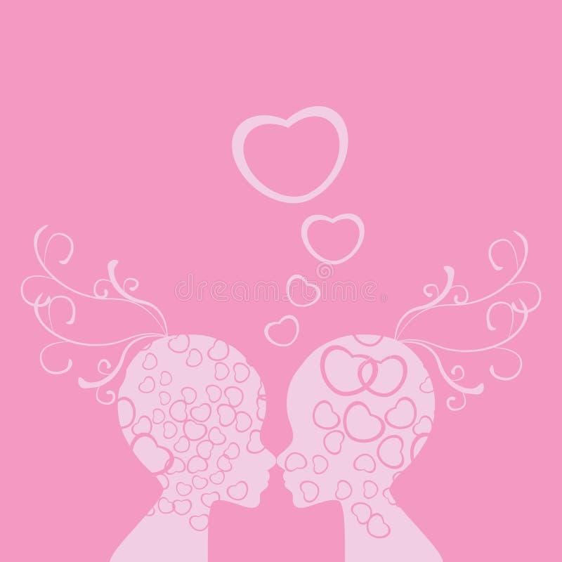 Enfrenta o amor do Valentim ilustração royalty free