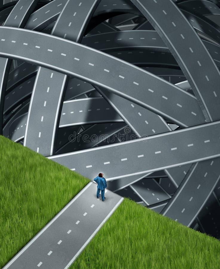 Enfrentando desafios ilustração stock
