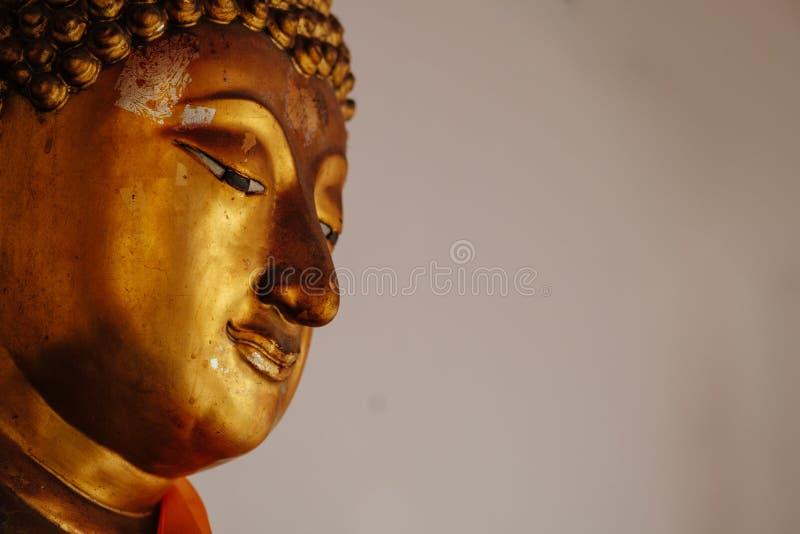 Enfrente a imagem de buddha, Wat Pho, Banguecoque, Tailândia fotografia de stock royalty free