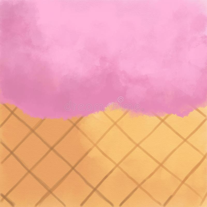 Enfriamiento y fondo delicioso del primer del helado de fresa stock de ilustración