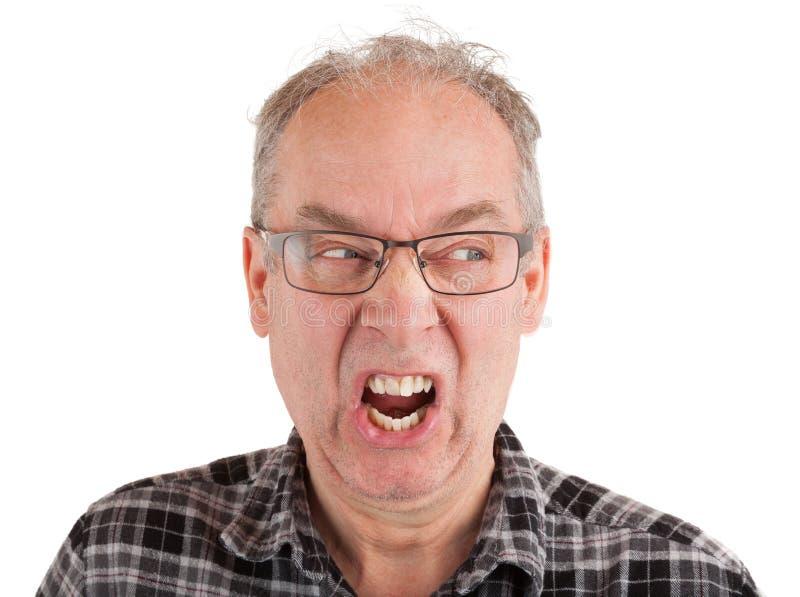 Enfurecen al hombre sobre algo fotografía de archivo libre de regalías