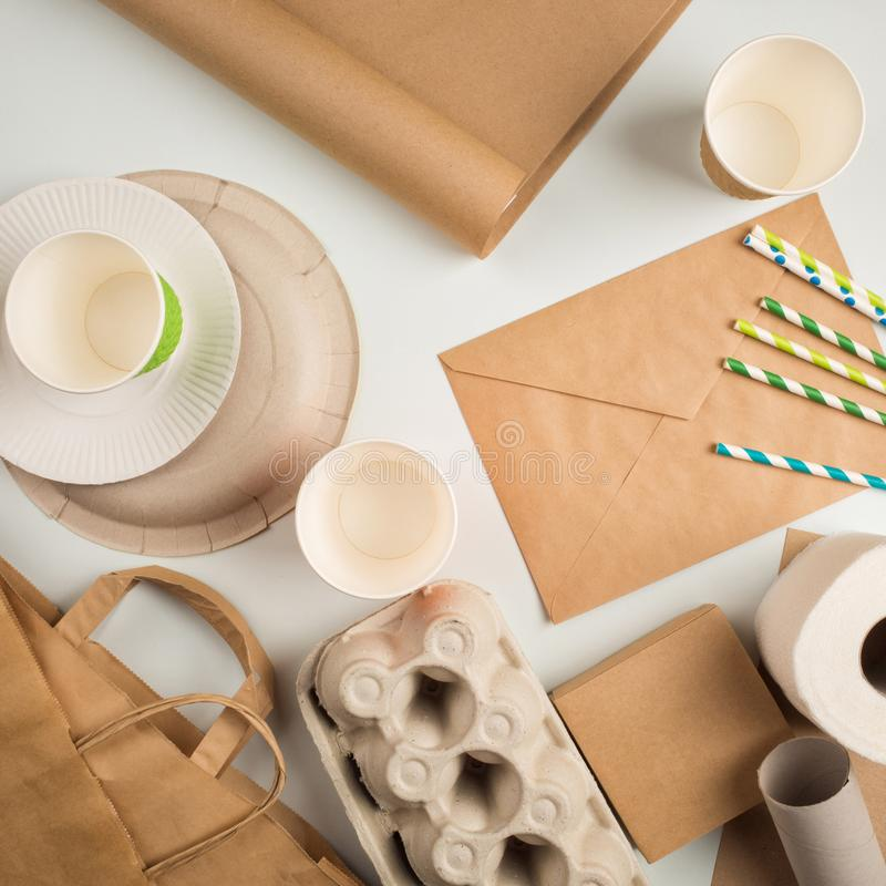 Engångsförpackning godskonsument arkivfoto