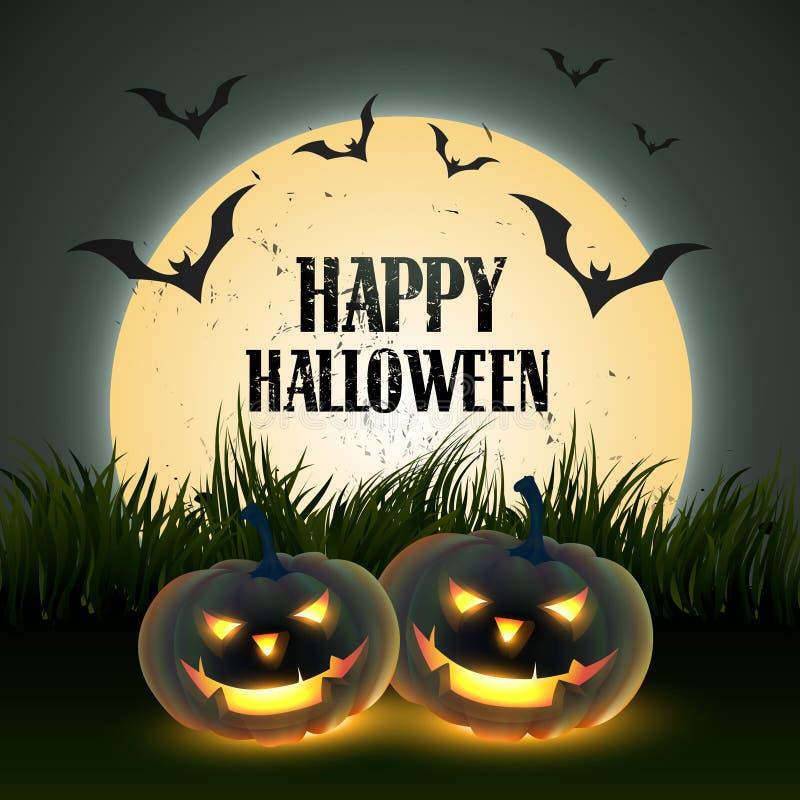 Eng Halloween ontwerp royalty-vrije illustratie