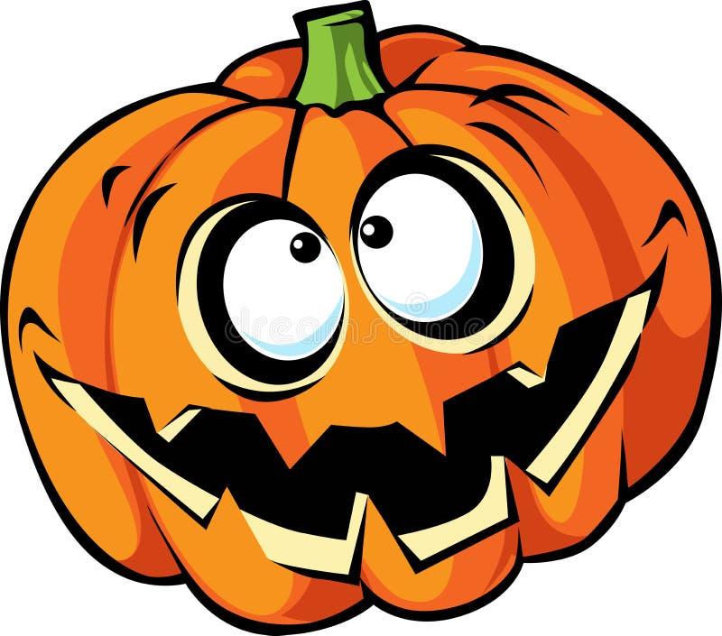 Eng Halloween-pompoenbeeldverhaal stock illustratie