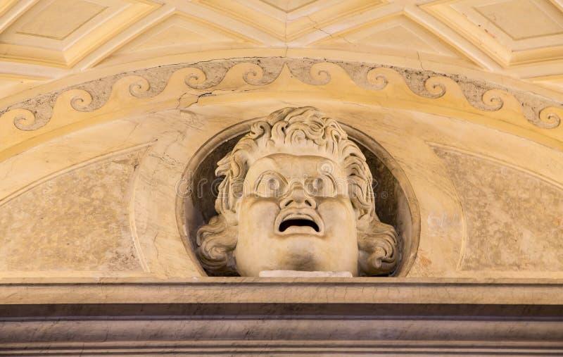 Eng Hoofd over de Deur van Vatikaan royalty-vrije stock fotografie