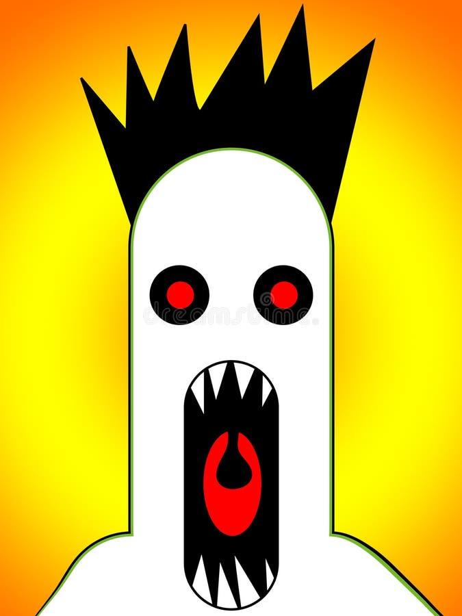 Eng Monster dat 4 gilt royalty-vrije illustratie