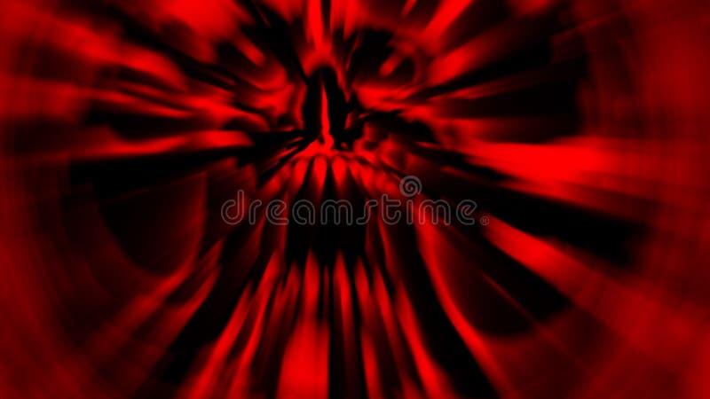 Eng rood het gillen vampierhoofd stock illustratie