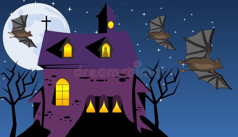 Eng spookhuis royalty-vrije illustratie
