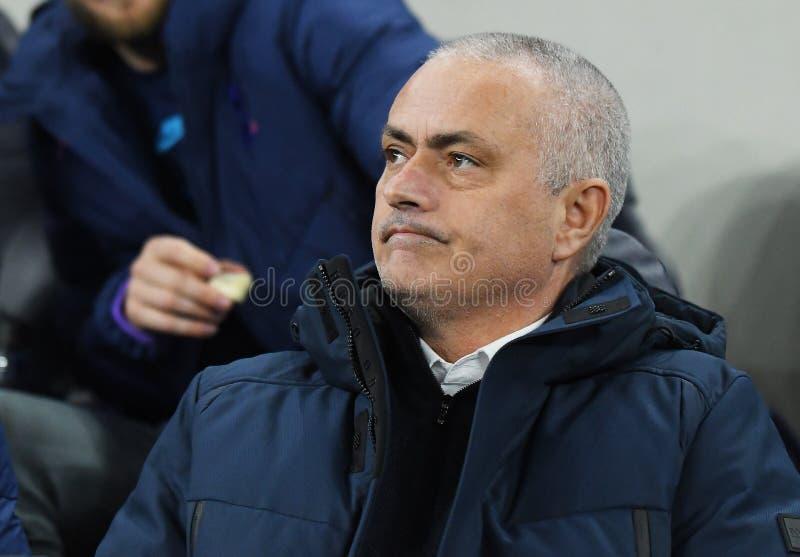 Jose Mourinho Manager of Tottenham Hotspur stock images