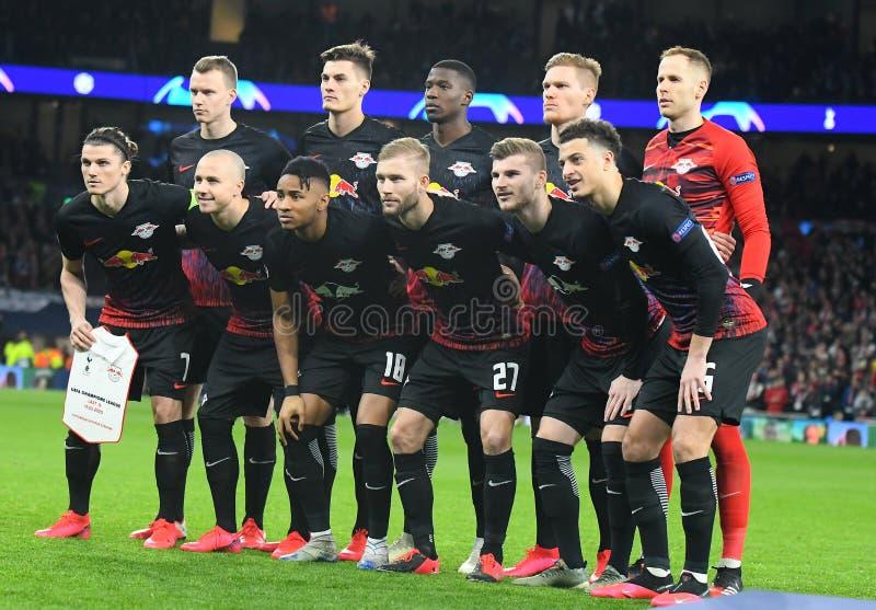 RB Leipzig starting line up stock photos