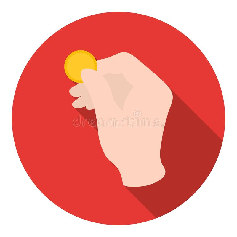 Engañe con el icono de la moneda en estilo plano en el fondo blanco Ejemplo mágico blanco y negro del vector de la acción del sím ilustración del vector