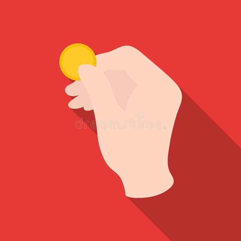 Engañe con el icono de la moneda en estilo plano en el fondo blanco Ejemplo mágico blanco y negro del vector de la acción del sím libre illustration