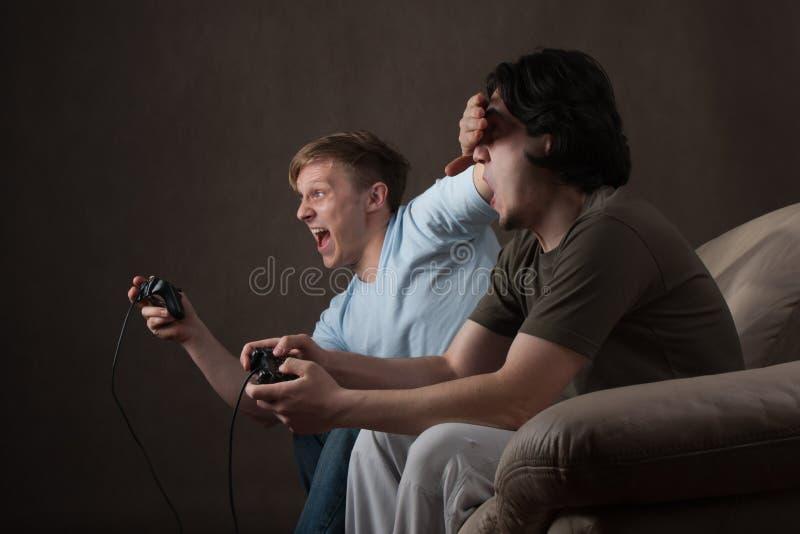 Engaño del juego video imagen de archivo