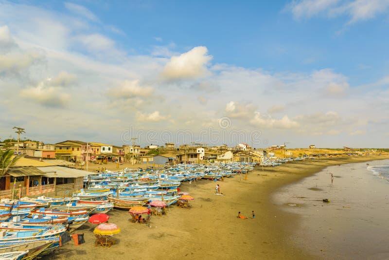 Engabao海滩瓜亚斯省厄瓜多尔 免版税库存图片