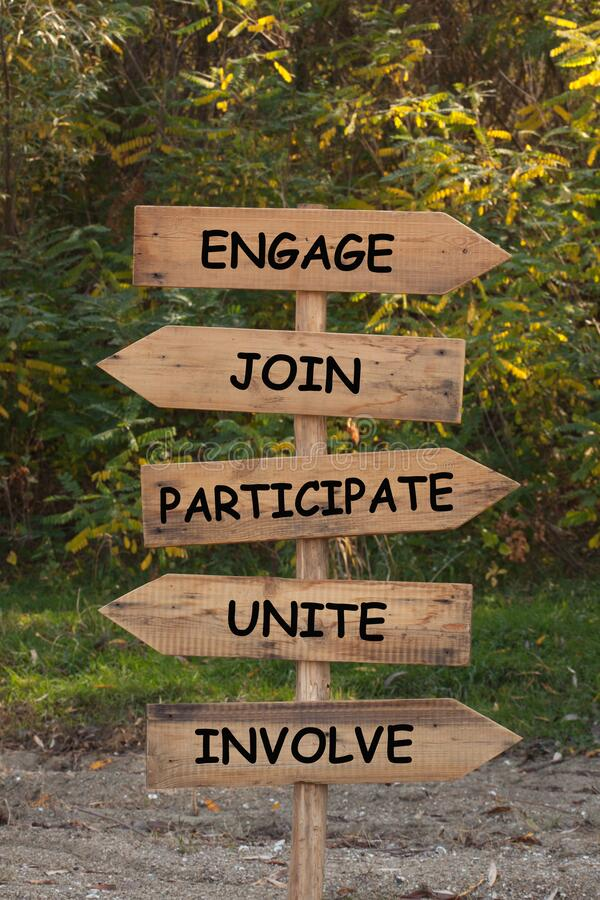 Free Engage Join Participate Involve Royalty Free Stock Photos - 169485068