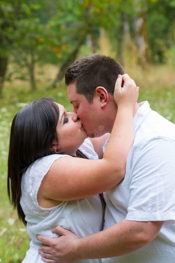 Engaged Couple Portrait Outdoors royalty free stock photo