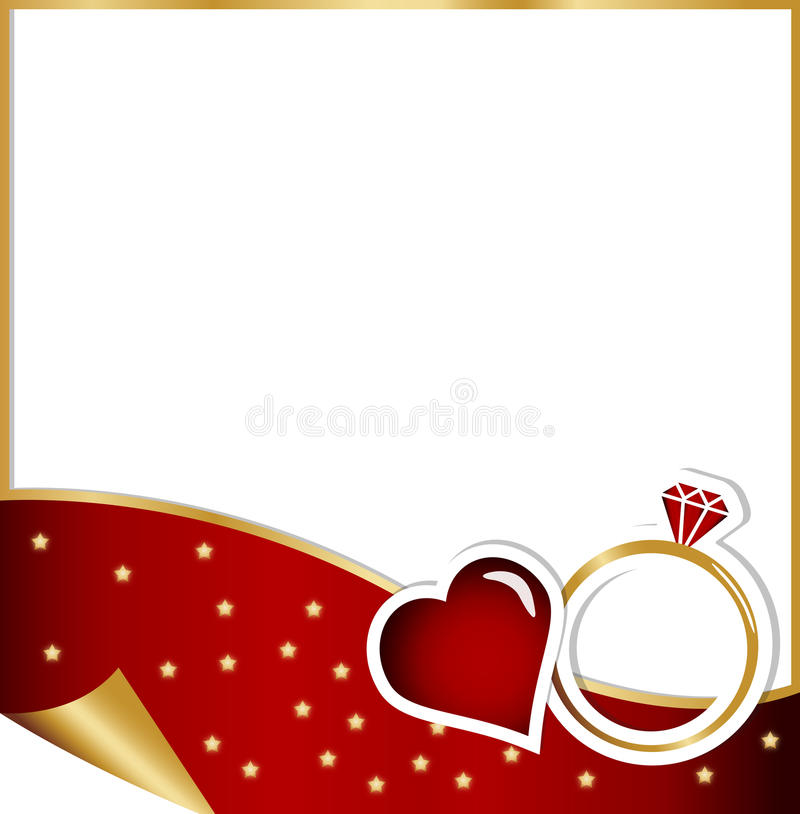 Engagement Card - Christmas Concept Stock Illustration ...