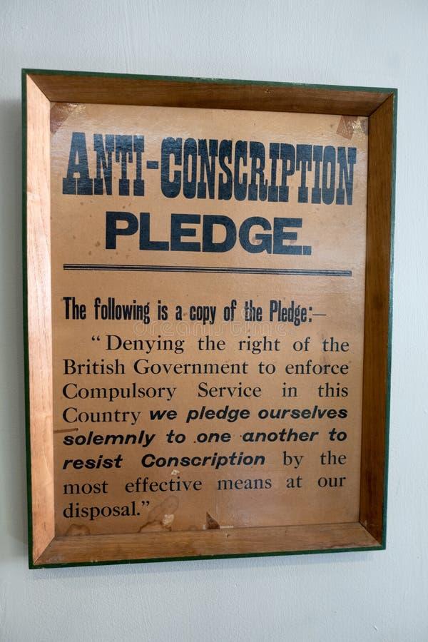 Engagement d'Anti-conscription photos stock