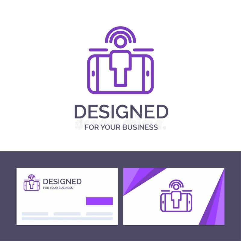 Engagement de visite de calibre créatif de carte de visite professionnelle et de logo, utilisateur, engagement d'utilisateur, ill illustration stock