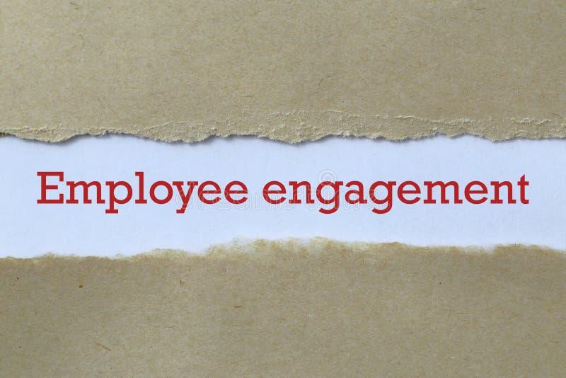 Engagement des employés photo libre de droits