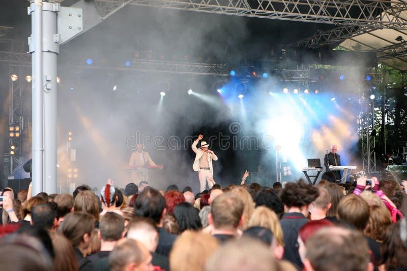 Engagement - festival d'Amphi image libre de droits