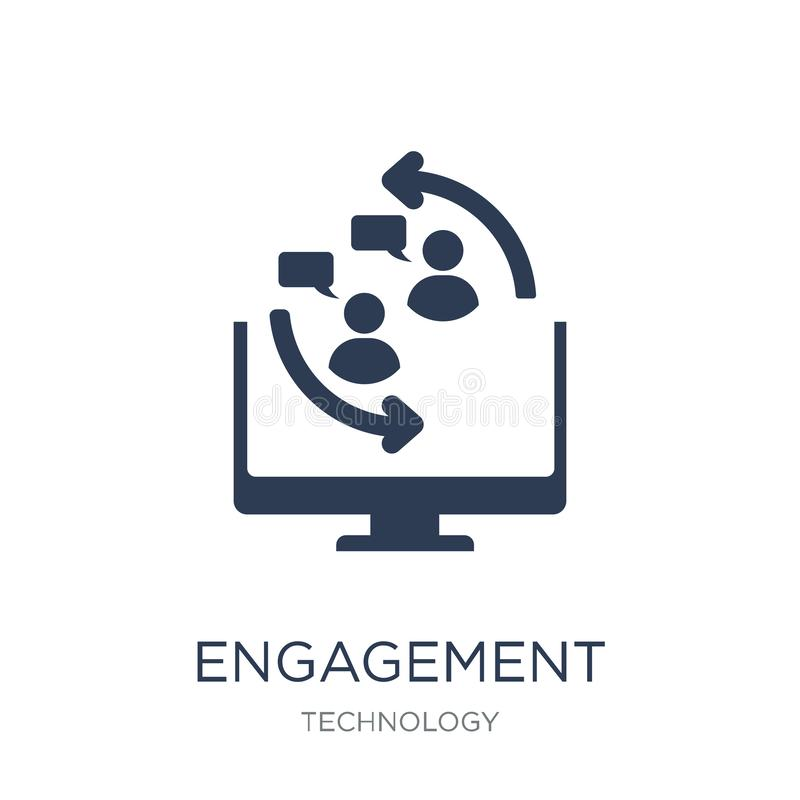 Engagement icon. Trendy flat vector Engagement icon on white background from Technology collection royalty free illustration