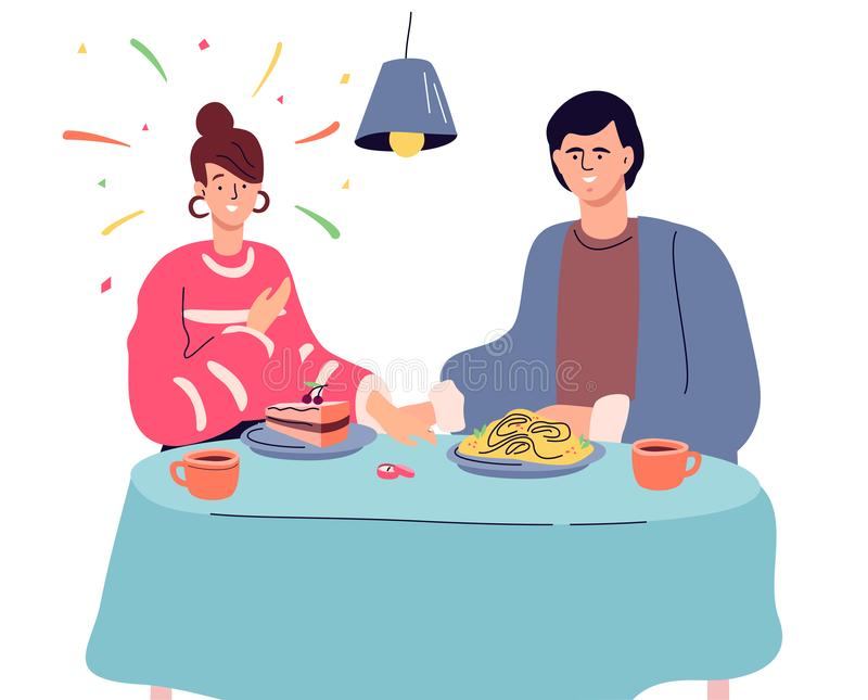 Engagement - illustration plate colorée moderne de style de conception illustration libre de droits