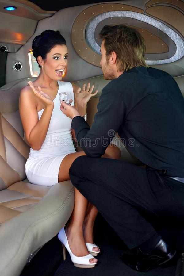 Download Engagement in limousine stock image. Image of caucasian - 22953705