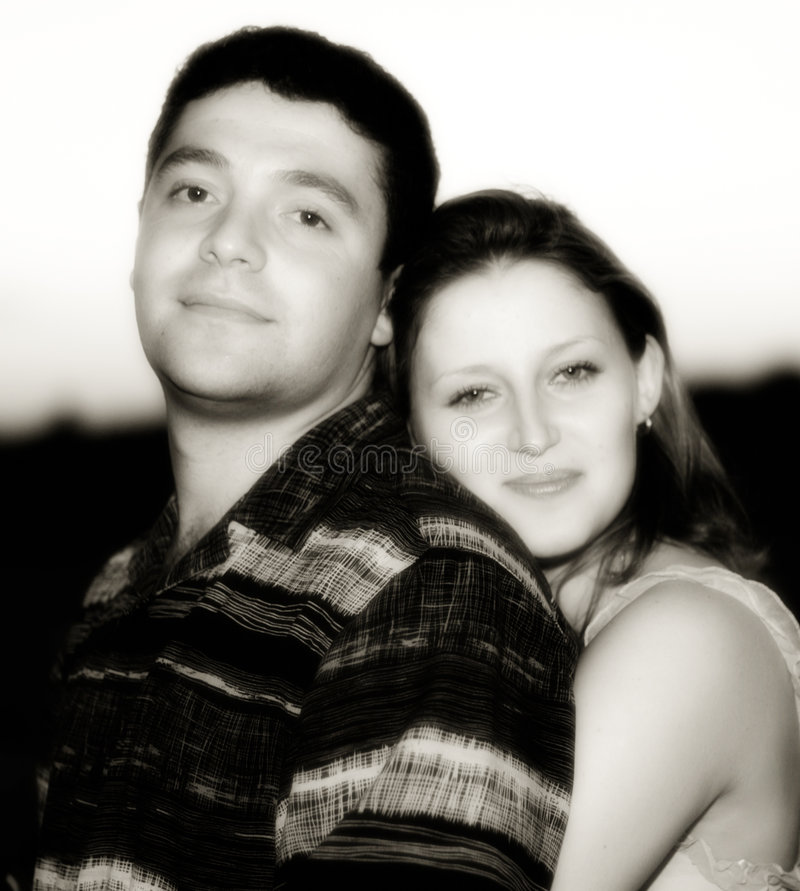 Engagement Portrait stock image