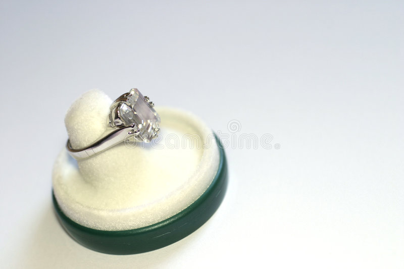 Engagement ring stock image