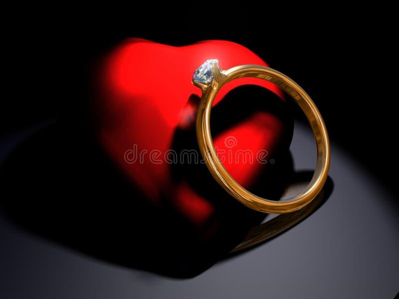 Download Engagement ring stock illustration. Illustration of brilliant - 13797797
