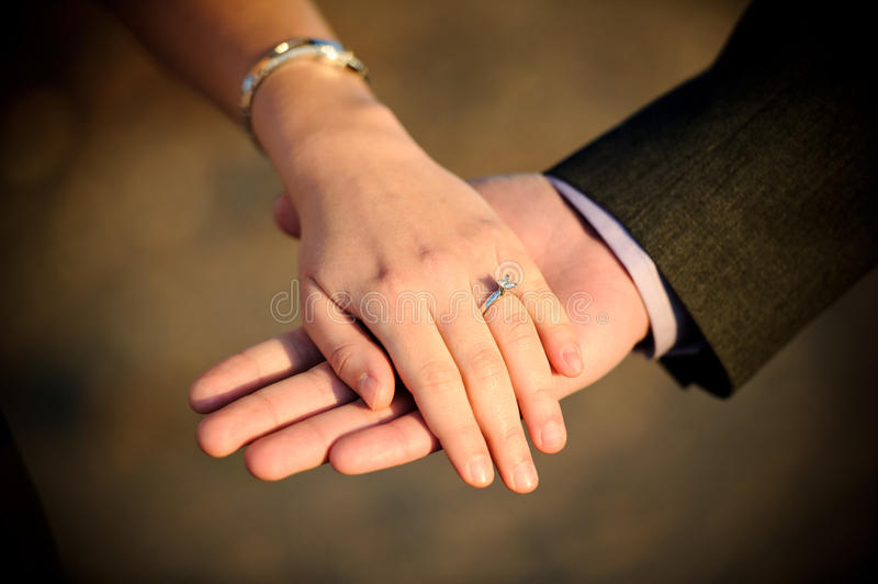 Engagement ring stock images