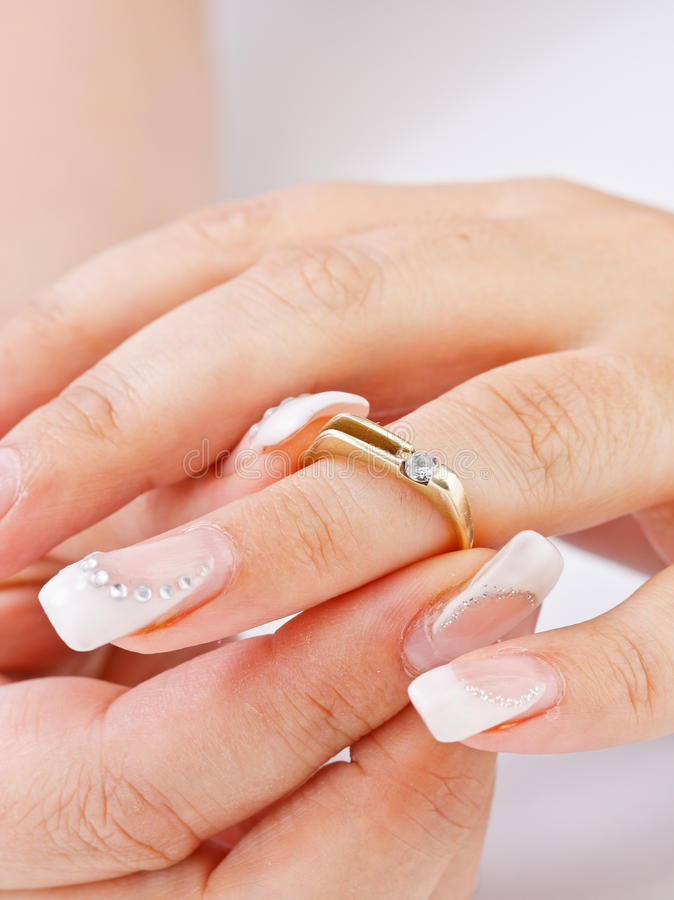 Download Engagement ring stock photo. Image of manicure, married - 26708220