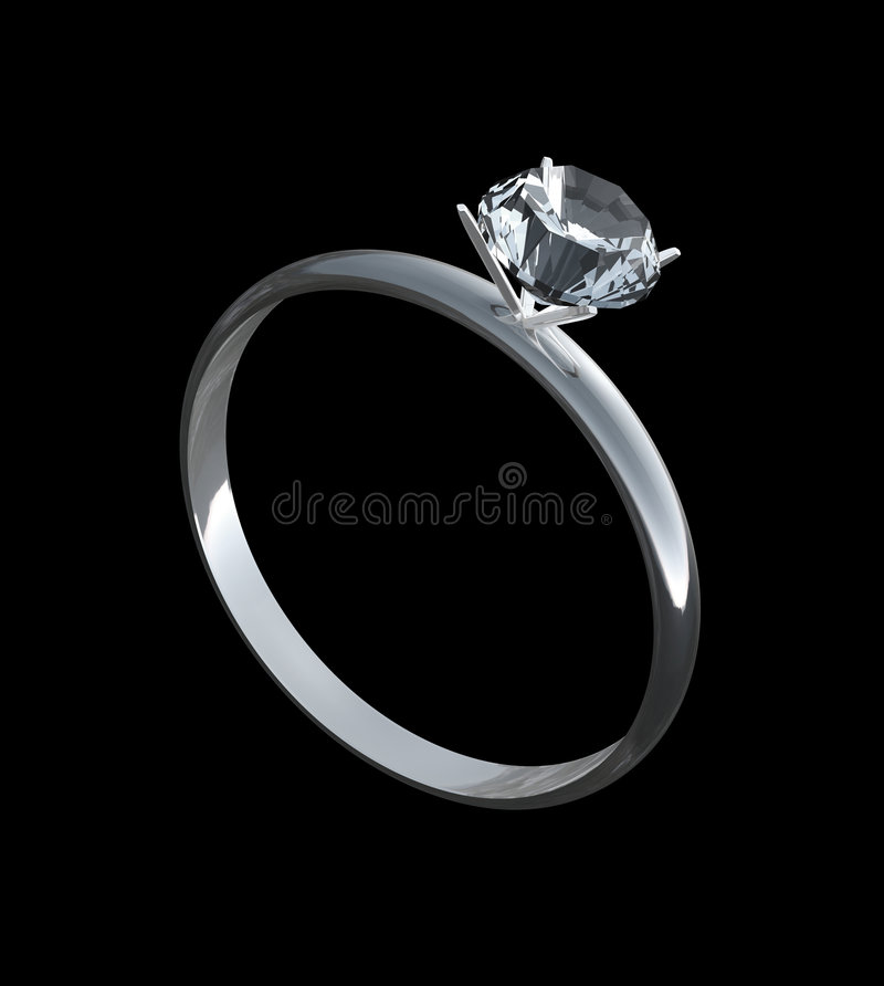 Download Engagement Ring stock illustration. Image of silver, facets - 4548470