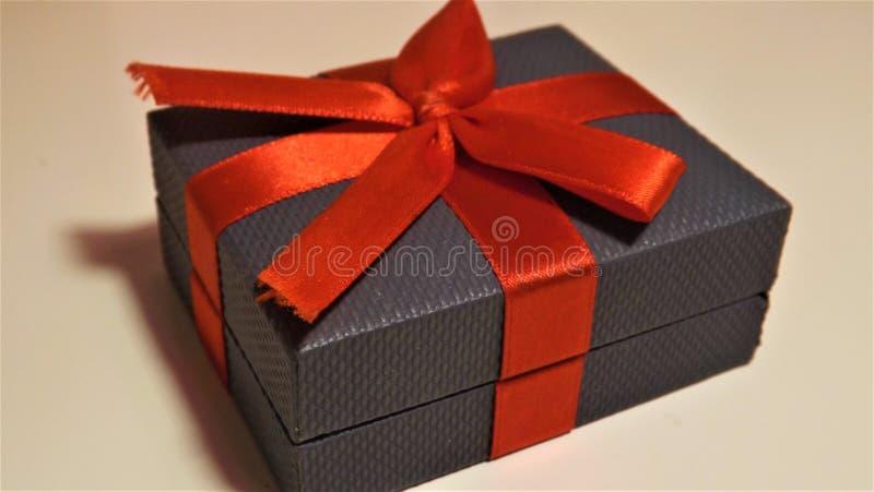 Engagement ring box closed royalty free stock image