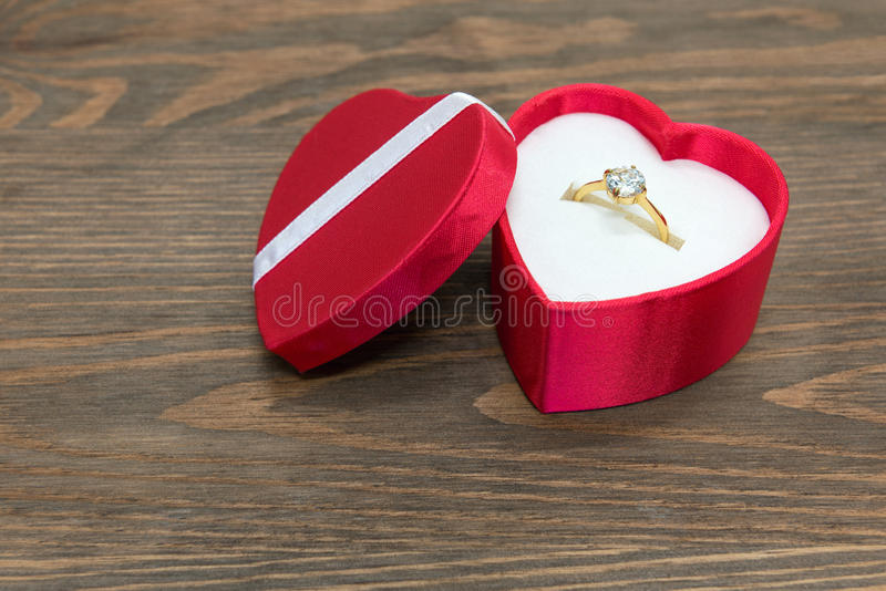 Download Engagement Ring In Heart Shaped Box Stock Photos - Image: 37006743
