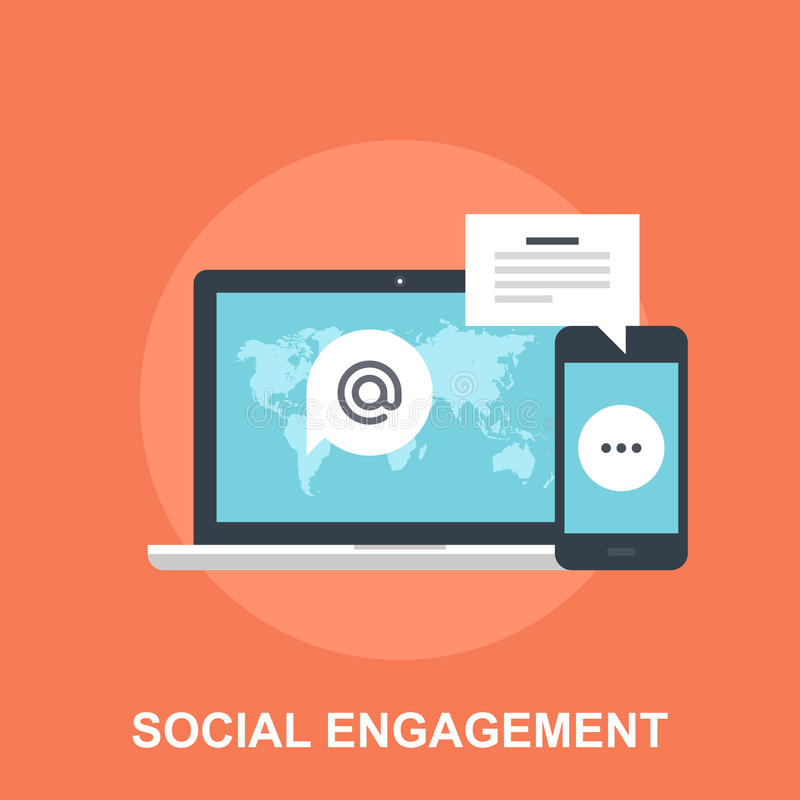 Engagement social illustration stock