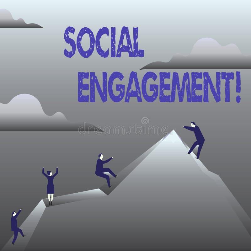 Engagement social des textes d'écriture Le courrier de signification de concept obtient de hautes annonces SEO Advertising Market illustration de vecteur