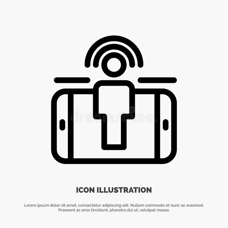 Engagement, utilisateur, engagement d'utilisateur, ligne de commercialisation vecteur d'icône illustration stock