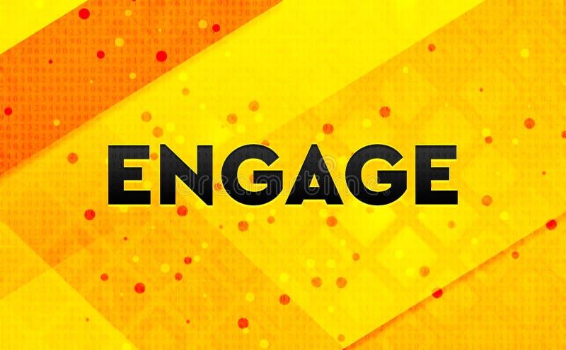 Engagez le fond jaune de bannière numérique abstraite illustration libre de droits