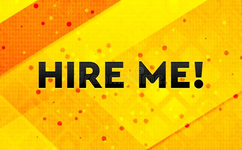Engagez-moi ! fond jaune de bannière numérique abstraite illustration libre de droits