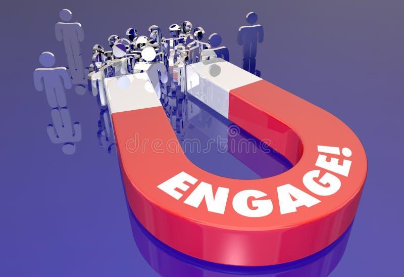 Engagieren Sie sich den Kunden-Publikums-Interaktions-Magneten, der Leute zieht vektor abbildung
