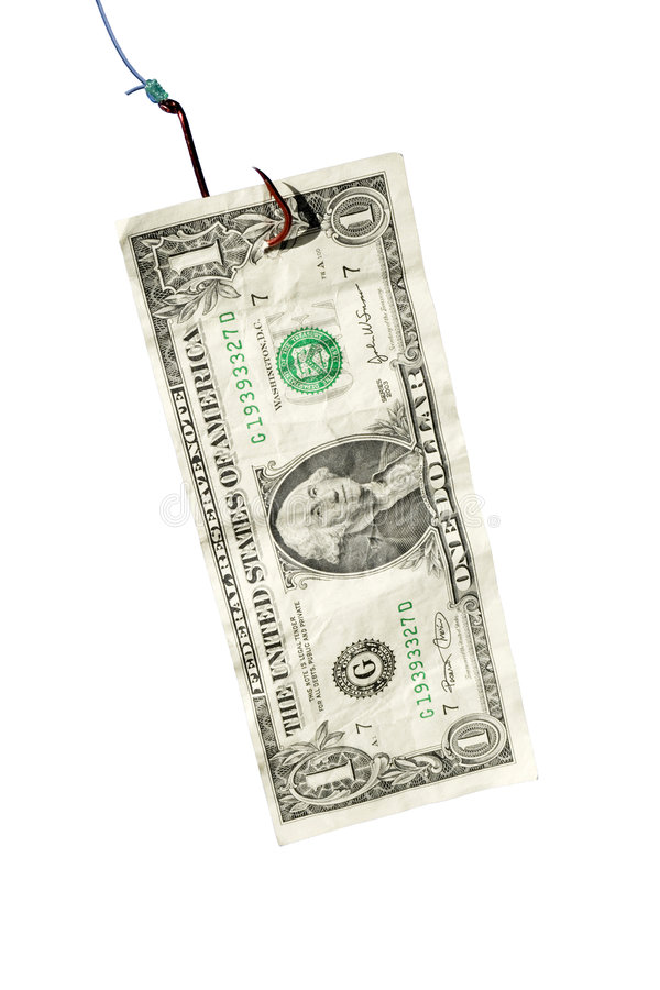 Enganchado en deuda imagen de archivo libre de regalías