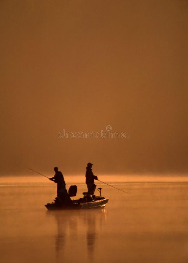 Enganchado en la pesca imagenes de archivo